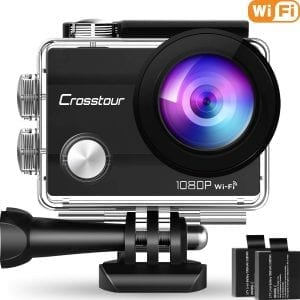 Crosstour 170 Degree Wide-Angle Underwater Action Camera