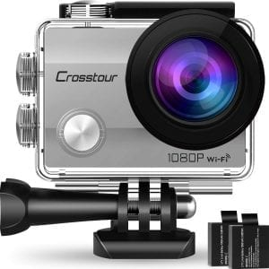 Crosstour Full HD 12MP Action Camera (Silver)