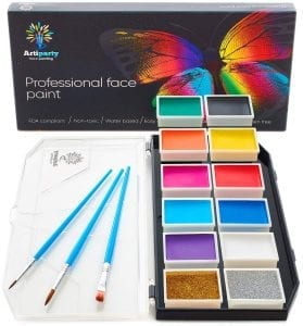 Artiparty Face & Body Paint Kit – Professional Palette – Non-Toxic & Hypoallergenic