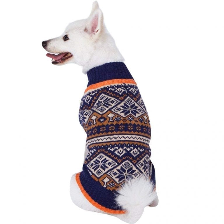Blueberry Pet 4 Patterns Nordic Fair Isle Snowflake Dog Sweater