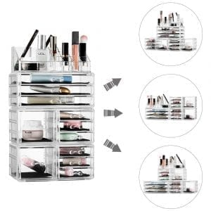 Felicite Home Acrylic Jewelry and Cosmetic Storage Boxes
