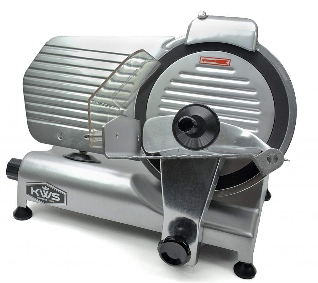 KWS Premium Commercial 320w Electric Meat Slicer 10""