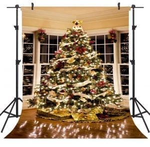 OUYIDA 5X7FT Christmas Tree cloth Customized photography Backdrop