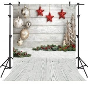 OUYIDA Christmas Theme 5X7FT Seamless Cloth Photography Background
