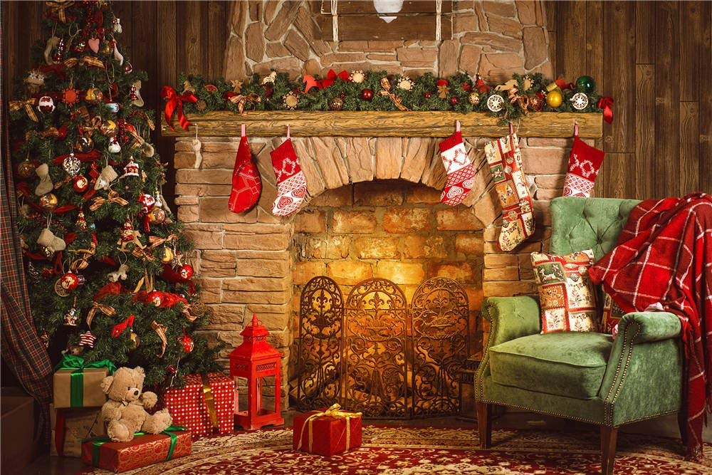 Qian Christmas Day Backdrops Photo Backgrounds