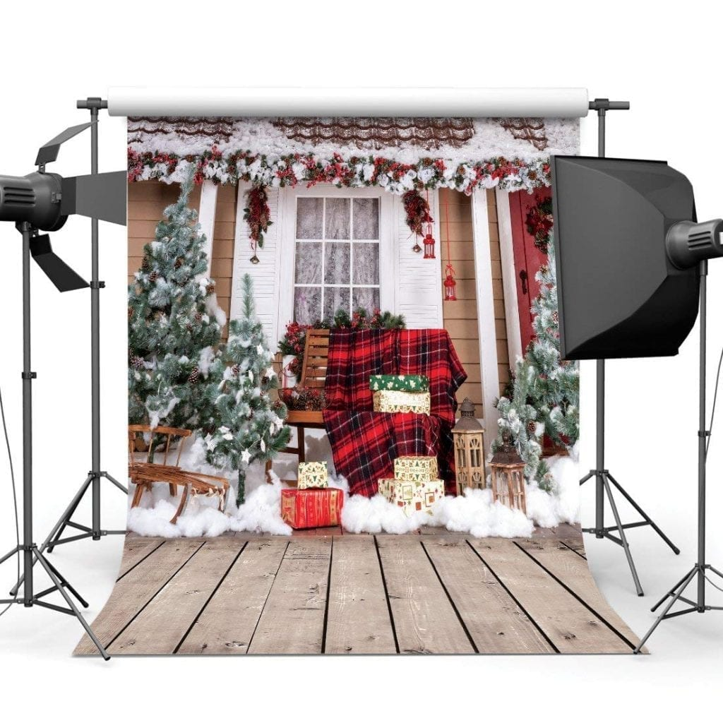 SJOLOON 10x10ft Beautiful Christmas Theme Pictorial Cloth Backdrop
