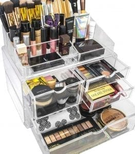 Sorbus Acrylic Cosmetics Makeup and Jewelry Storage Case