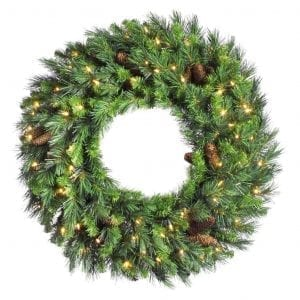 Vickerman Cheyenne Pine Pre-lit LED Wreath