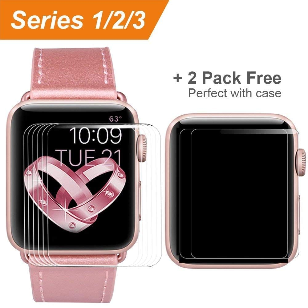[6 Pack] Compatible Apple Watch Screen Protector