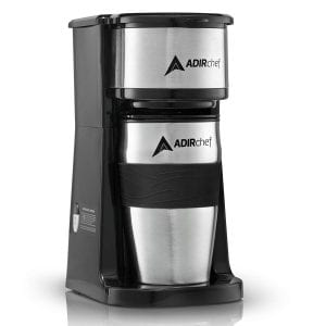 AdirChef Grab N' Go Personal Coffee Maker with 15 oz. Travel Mug