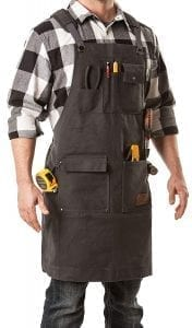 Aspen Workwear | Heavy Duty Waxed Canvas Shop Apron with Neck and Shoulder Relief