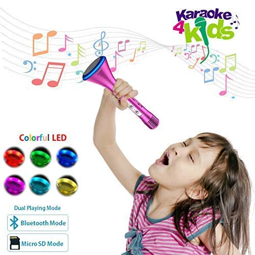 KOMVOX Kids Karaoke Microphone Machine