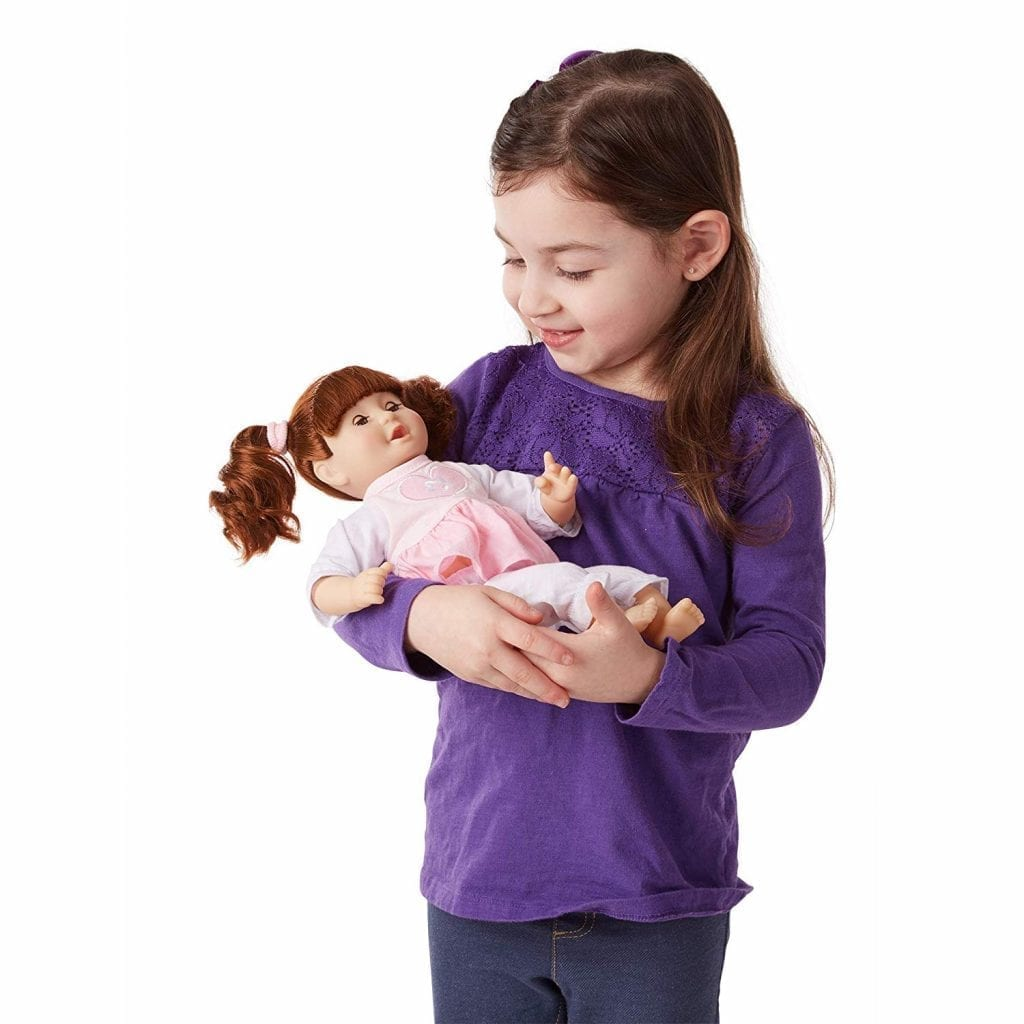Melissa & Doug Baby Doll with Hair and Outfit