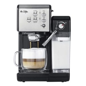 Mr. Coffee One Touch Coffee House Espresso Maker & Cappuccino Machine