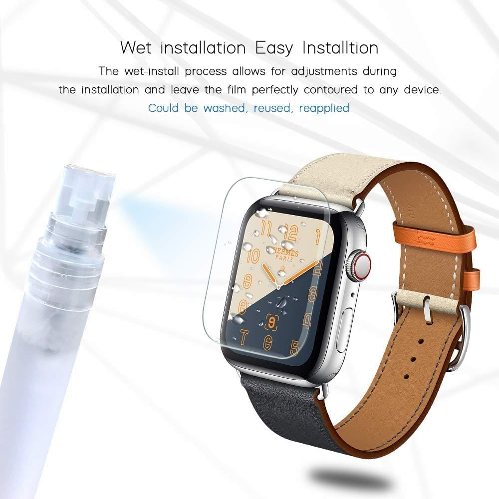 TAURI [6-Pack] Screen Protector for Apple Watch Screen Protector