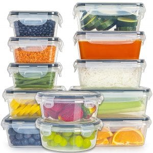 [12-Pack] Food Storage Containers with Lids by Fullstar