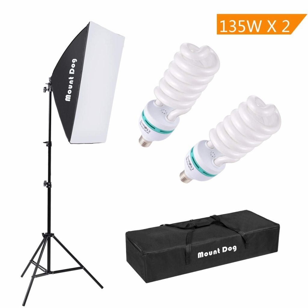 Photography Continuous Softbox Lighting Kit by MOUNTDOG