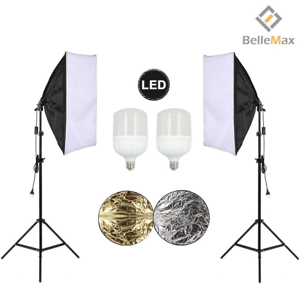 Belle Max Photography Softbox Lighting Kit