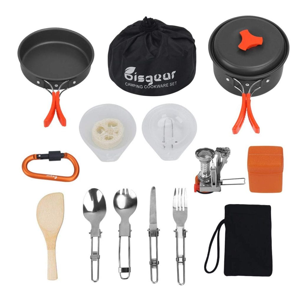 Bisgear Camping Cookware with Stove