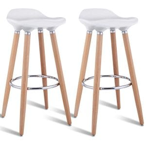 COSTWAY Barstools Modern Counter Height Backless Stools