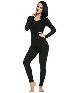Ekouaer Women's Long Thermal Underwear Base Layering Set