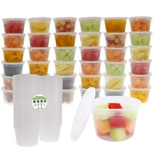 Freshware Food Storage Containers with Lids [36 Pack, 16oz] - Plastic Containers