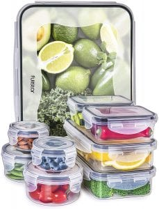 Fullstar Food Storage Containers with Lids - Airtight Leak Proof Easy Snap Lock and BPA Free