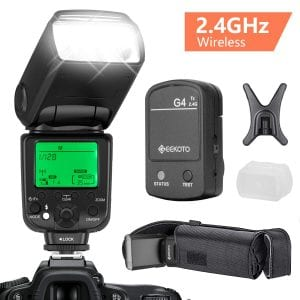GEEKOTO Flash Speedlite for Canon DSLR Cameras