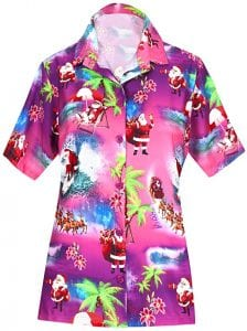 HAPPY BAY V Neck Palm Tree Hawaiian Shirt
