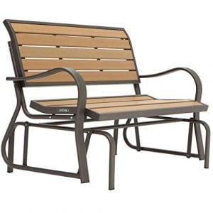 PHI VILLA Patio Swing Glider Bench
