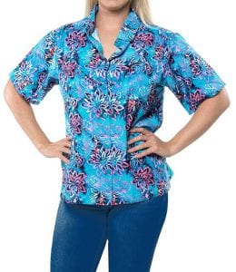 Ladies Hawaiian Shirt Beach Top Casual Tank Blouses