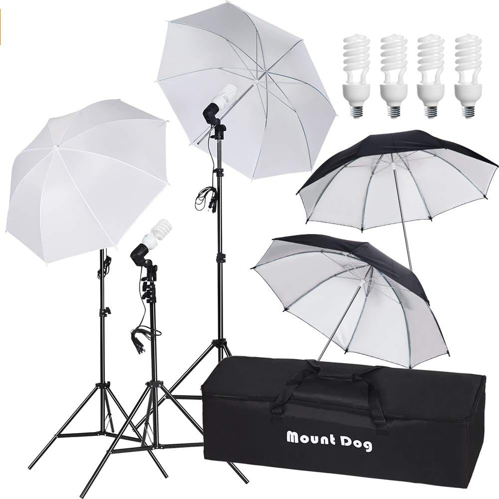 "MOUNTDOG 33"" Photography Umbrella Lighting Kit"