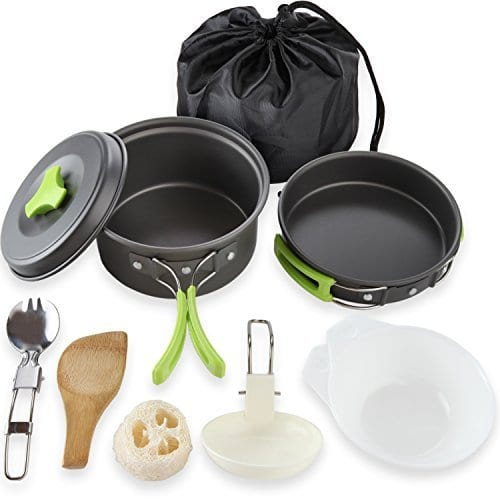 MallMeo Camping Cookware Mess Kit
