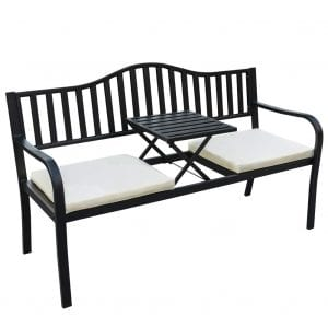 Sundale Outdoor Deluxe Cast Iron Steel Frame Glider Bench