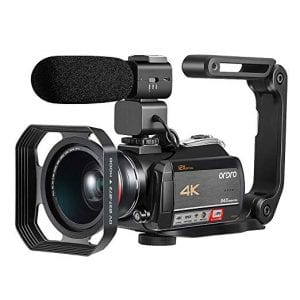 4K Camcorder, Video Camera ORDRO AC5 with 12x Optical Zoom 3.1'' IPS Touch Screen