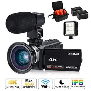 4K Camcorder Vlogging Video Camera for YouTube CofunKool