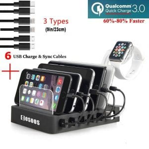 CoSoos Quick charge USB tower