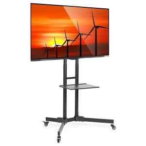 Mount Factory Rolling Mobile TV Stand