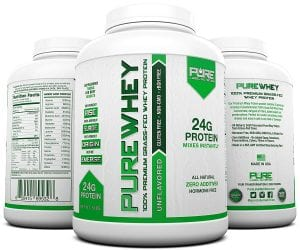 Pure Label Whey Protein Grass Fed 5 LB Unflavored