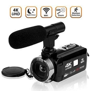 SEREE Video Camera Camcorder 4K Ultra HD Digital