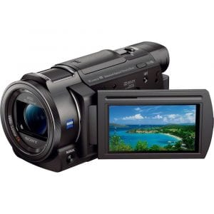 Sony FDR-AX33/B - 4K Camcorder with Mini Zoom Microphone + 64GB SDXC Memory Card
