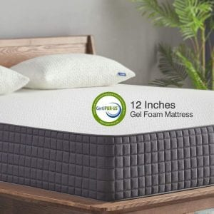 Sweetnight Queen Mattress Gel Memory Foam Mattress, 12 inch