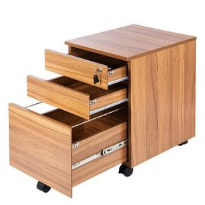 TOPSKY Wood Mobile File Cabinet [3-Drawer File]