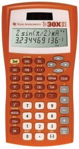 Texas Instruments 2-Line Scientific Calculator, TI-30X IIS