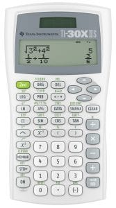 Texas Instruments 2-Line Scientific Calculator, TI30XIIS