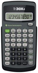 Texas Instruments Scientific Calculator, TI-30Xa