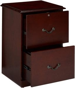 Z-Line Designs ZL9990-22VFU Vertical File Cabinet [2-Drawer] Cherry Finish