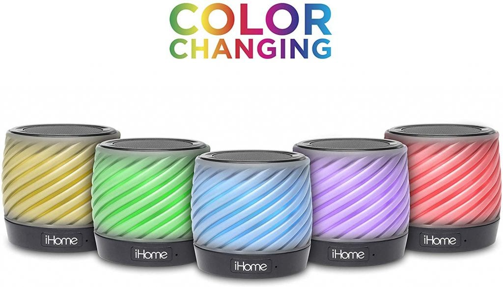 iHome Color Changing Bluetooth Portable Speaker