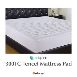 Allrange 300TC Cool Tencel Hypoallergenic Mattress Pad