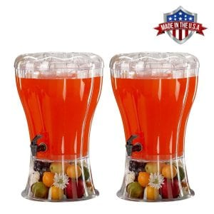 HowPlumb 2 Pack Cold Beverage Drink Dispenser